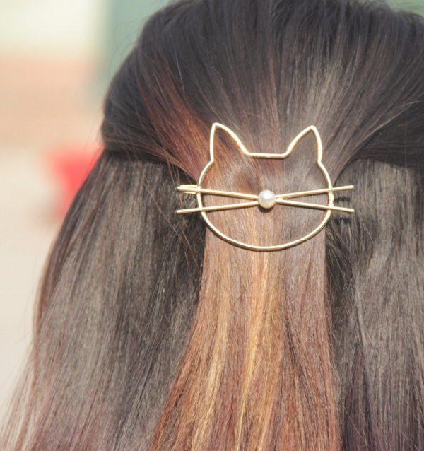 Spona do vlasů - kočka 2 - pro milovníky koček