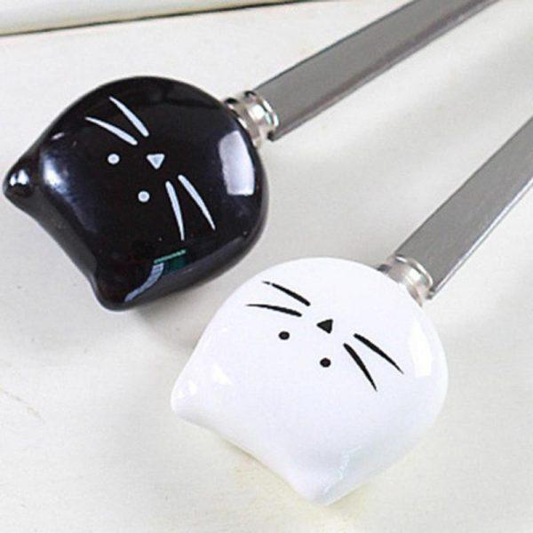 Vidlička s kočičkou - keramický úchyt 2 - pro milovníky koček