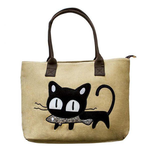 Taška - kočka s rybou 1 - pro milovníky koček