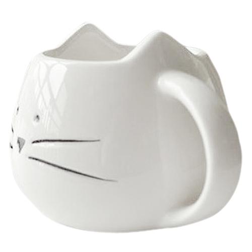 Hrníček - kočičí obličej - bílý 4 - pro milovníky koček