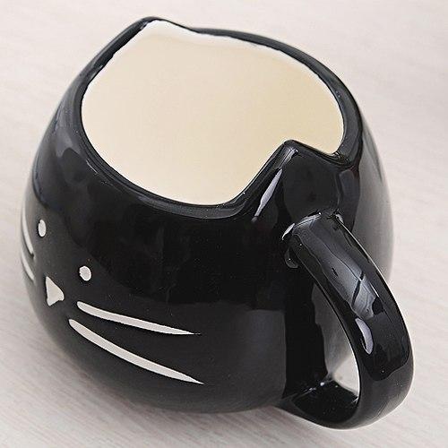 Hrníček - kočičí obličej - černý 2 - pro milovníky koček