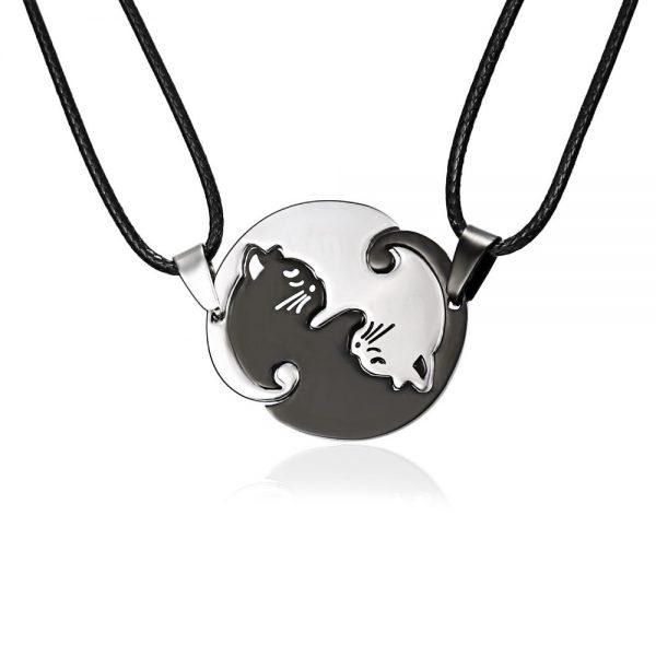 Rozpojovací náhrdelník - jin a jang 1 - pro milovníky koček