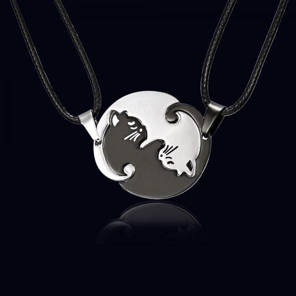 Rozpojovací náhrdelník - jin a jang 2 - pro milovníky koček