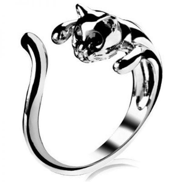 Prstýnek obmotaná kočka 1 - pro milovníky koček