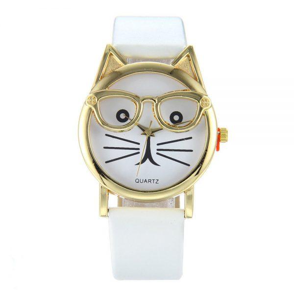 Hodinky - kočka s brýlemi 1 - pro milovníky koček