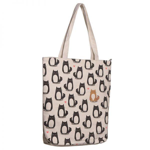 Dárkové předměty s kočkama - Látková taška se zipem Feline Fine Kočka