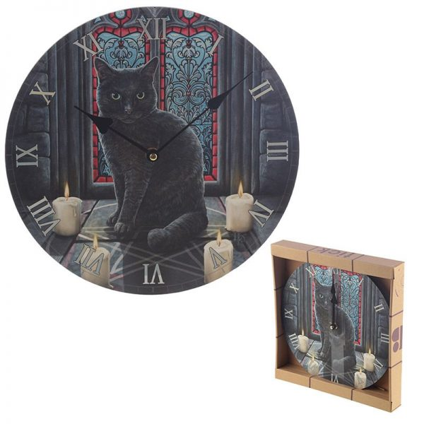 Dárkové předměty s kočkama - Nástěnné hodiny Posvátný kruh