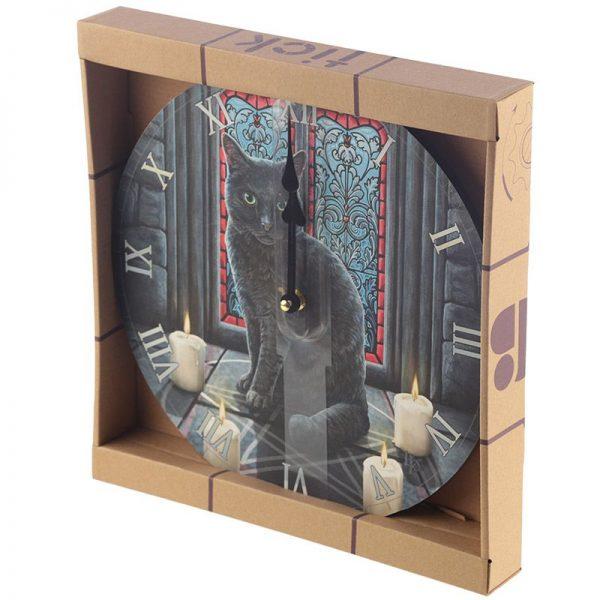 Nástěnné hodiny Posvátný kruh, design Lisa Parker 2 - pro milovníky koček