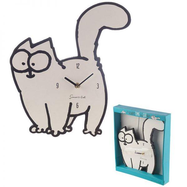 Dárkové předměty s kočkama - Nástěnné hodiny Simon's Cat