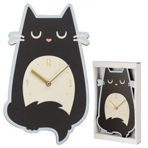 Dárkové předměty s kočkama - Nástěnné hodiny Feline Fine Kočka