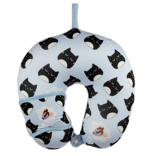 Cestovní polštářek & maska na oči Feline Fine Kočka 5 - pro milovníky koček