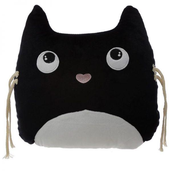 Dárkové předměty s kočkama - Plyšový polštář Feline Fine Kočka