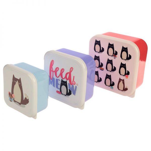 Sada 3 krabiček na jídlo Feline Fine Kočka 1 - pro milovníky koček