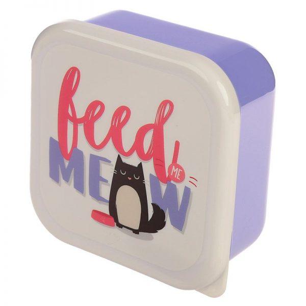 Sada 3 krabiček na jídlo Feline Fine Kočka 3 - pro milovníky koček