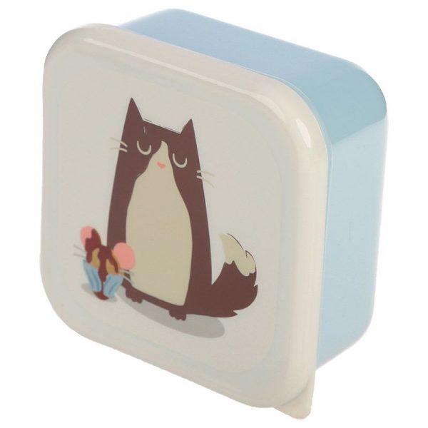 Sada 3 krabiček na jídlo Feline Fine Kočka 4 - pro milovníky koček