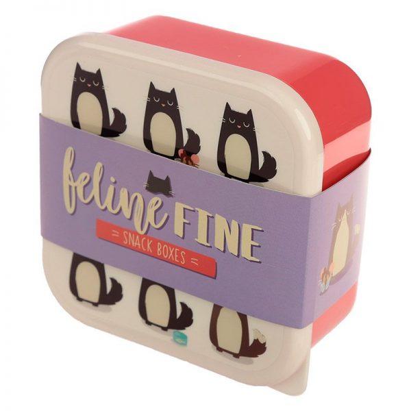 Sada 3 krabiček na jídlo Feline Fine Kočka 5 - pro milovníky koček