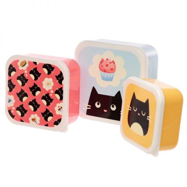 Sada 3 krabiček na jídlo M/L/XL - Feline Fine Kočka 1 - pro milovníky koček