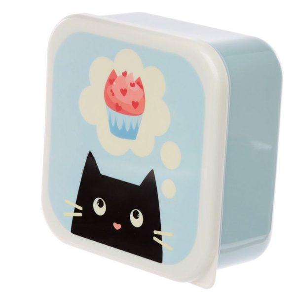 Sada 3 krabiček na jídlo M/L/XL - Feline Fine Kočka 2 - pro milovníky koček