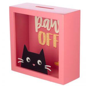 Dárkové předměty s kočkama - Pokladnička Feline Fine Kočka - Paws Off