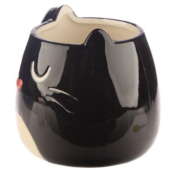 Hrnek ve tvaru černé kočky Feline Fine 2 - pro milovníky koček