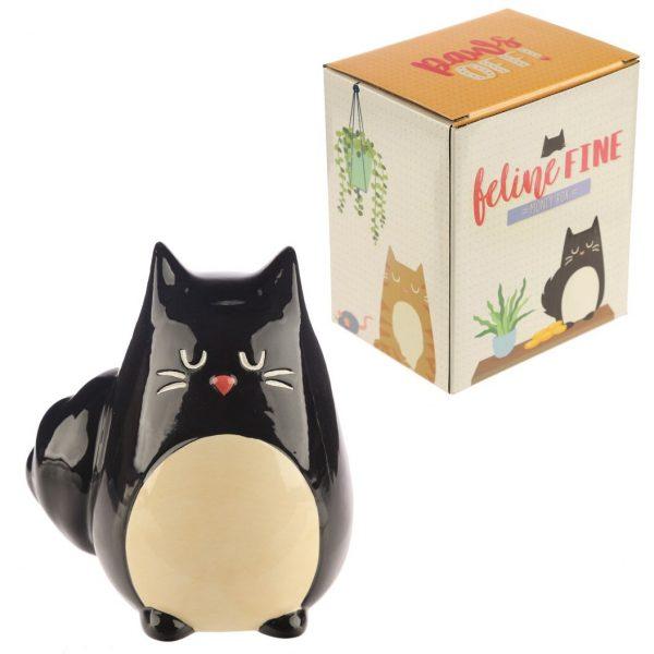 Pokladnička - Černá kočka Feline Fine 1 - pro milovníky koček