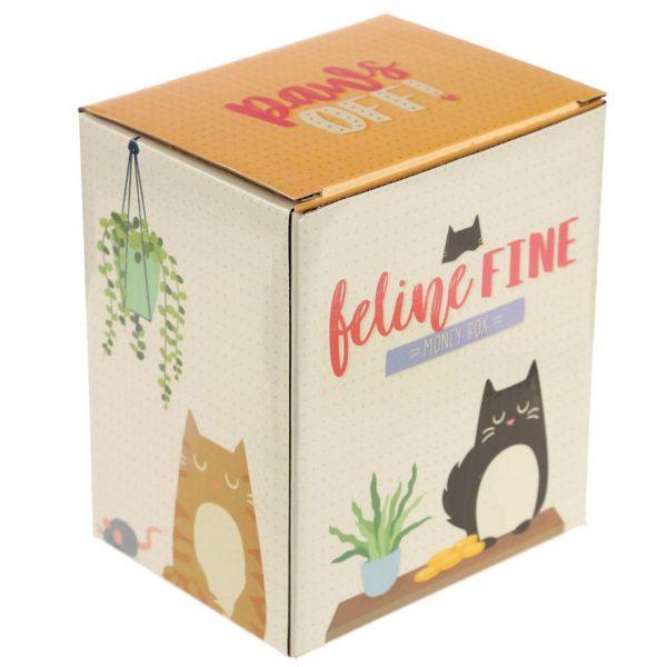 Pokladnička - Černá kočka Feline Fine 2 - pro milovníky koček
