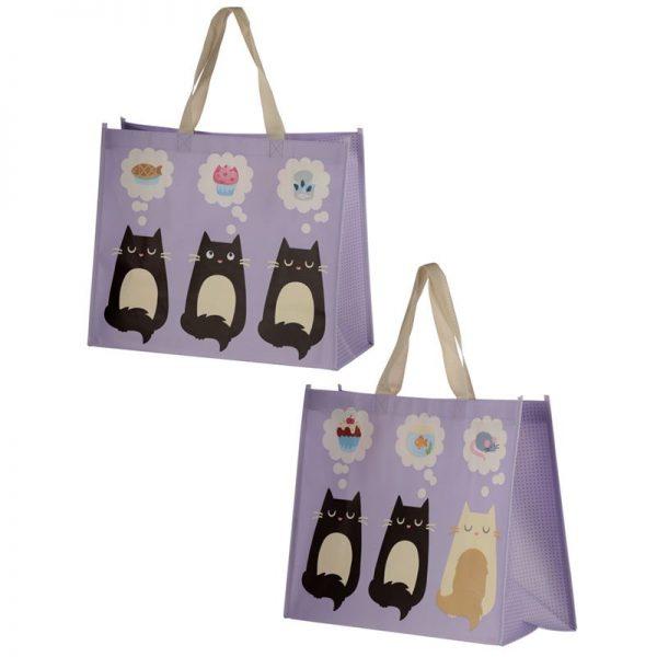 Taška s kočičím motivem - fialová, Feline Fine 1 - pro milovníky koček
