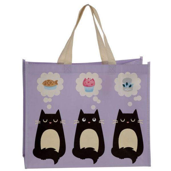 Taška s kočičím motivem - fialová, Feline Fine 5 - pro milovníky koček
