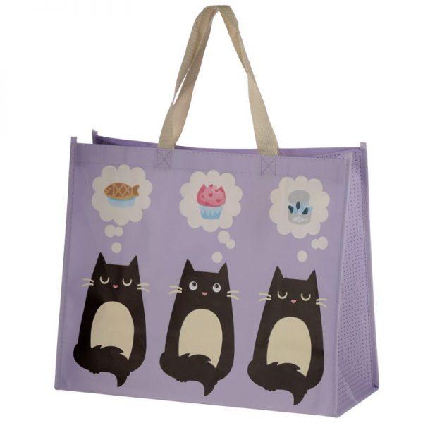 Taška s kočičím motivem - fialová, Feline Fine 4 - pro milovníky koček