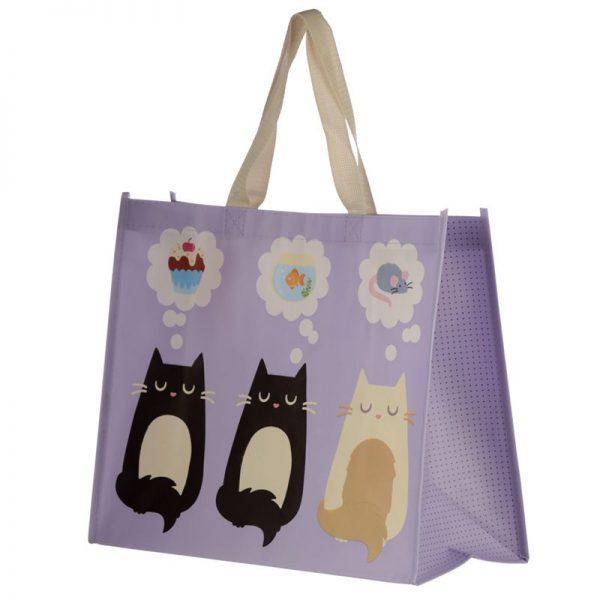 Taška s kočičím motivem - fialová, Feline Fine 3 - pro milovníky koček