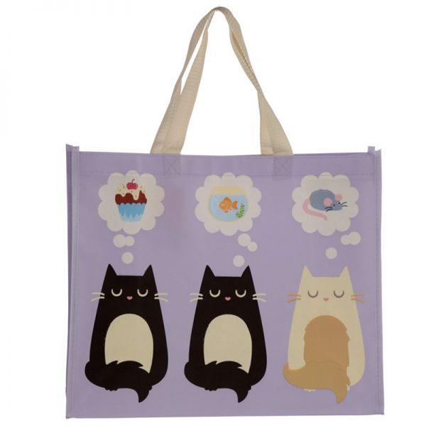 Taška s kočičím motivem - fialová, Feline Fine 2 - pro milovníky koček