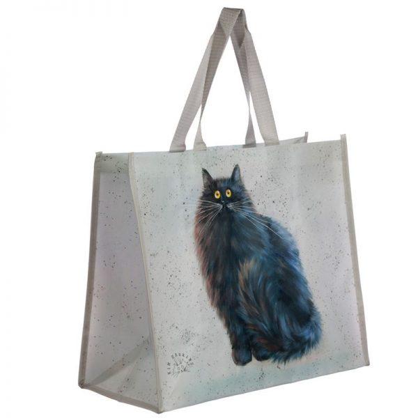 Taška s kočičím motivem -  černá kočka na bílém pozadí, Kim Haskins 1 - pro milovníky koček