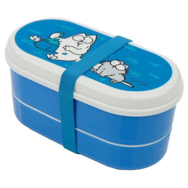 Krabičky na jídlo Simonova kočka - Bento box s vidličkou a lžičkou Simon's Cat 2 - pro milovníky koček