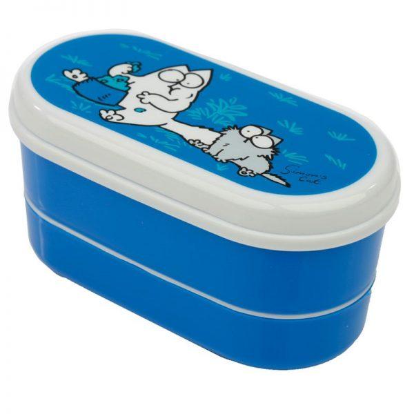 Krabičky na jídlo Simonova kočka - Bento box s vidličkou a lžičkou Simon's Cat 3 - pro milovníky koček