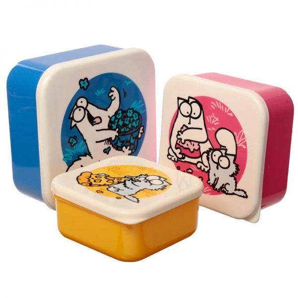 Sada 3 krabiček na jídlo s Simonovou kočkou - M / L / XL - Simon's Cat 1 - pro milovníky koček