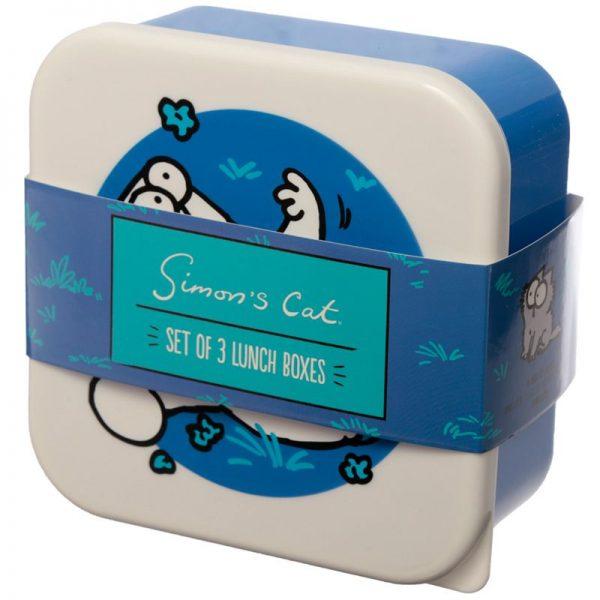 Sada 3 krabiček na jídlo s Simonovou kočkou - M / L / XL - Simon's Cat 5 - pro milovníky koček