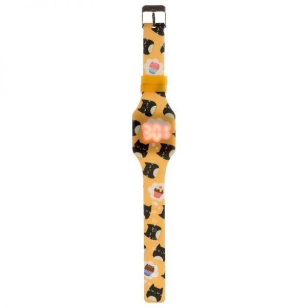 Silikonové digitální hodinky s kočkou Feline Fine 2 - pro milovníky koček