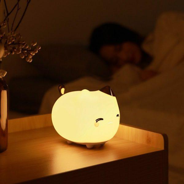 Lampička Baseus - kočička, silikonové noční světlo ve tvaru kočky 7 - pro milovníky koček