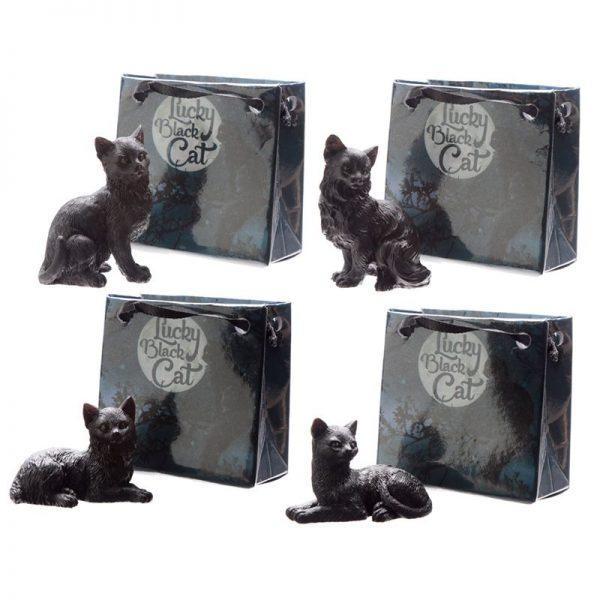 Malá černá kočka pro štěstí v dárkové taštičce 1 - pro milovníky koček