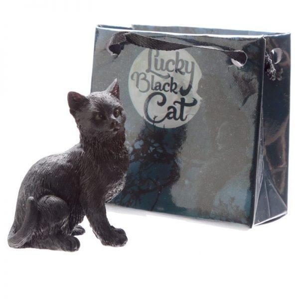 Malá černá kočka pro štěstí v dárkové taštičce 2 - pro milovníky koček