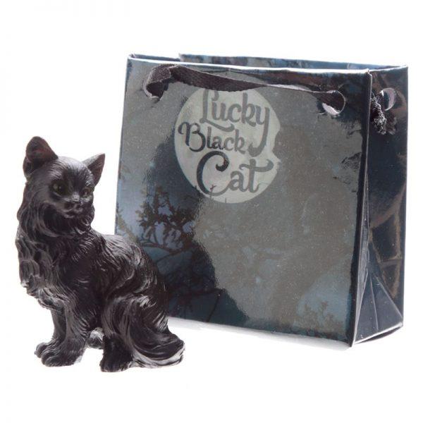 Malá černá kočka pro štěstí v dárkové taštičce 5 - pro milovníky koček
