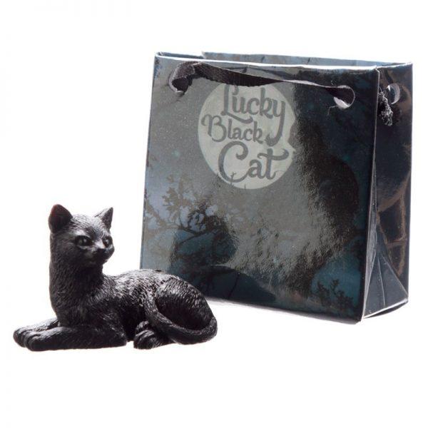 Malá černá kočka pro štěstí v dárkové taštičce 4 - pro milovníky koček