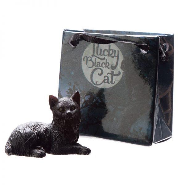 Malá černá kočka pro štěstí v dárkové taštičce 3 - pro milovníky koček