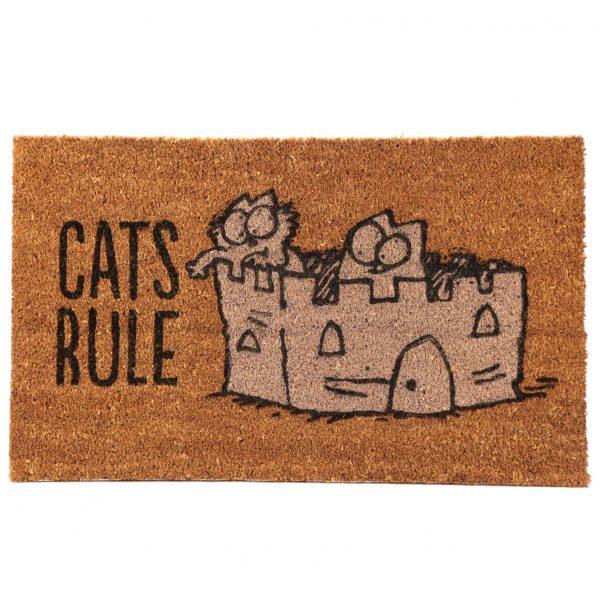 Rohožka z kokosového vlákna s kočičím motivem - Simon's Cat - Cat's Rule 1 - pro milovníky koček