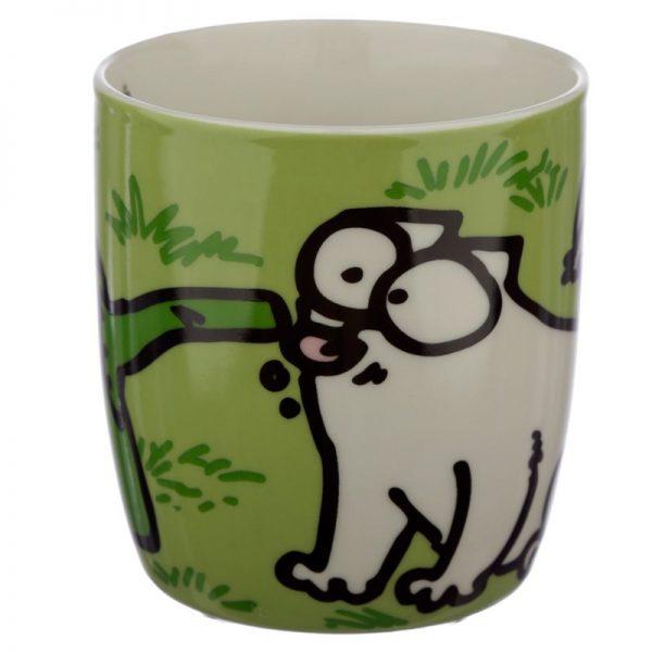 Porcelánový hrnek Simon's Cat - zelený 4 - pro milovníky koček