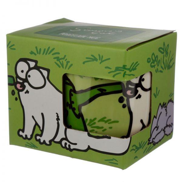 Porcelánový hrnek Simon's Cat - zelený 1 - pro milovníky koček