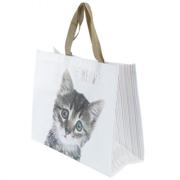 Nákupní taška s kotětem a nápisem MEOW 2 - pro milovníky koček