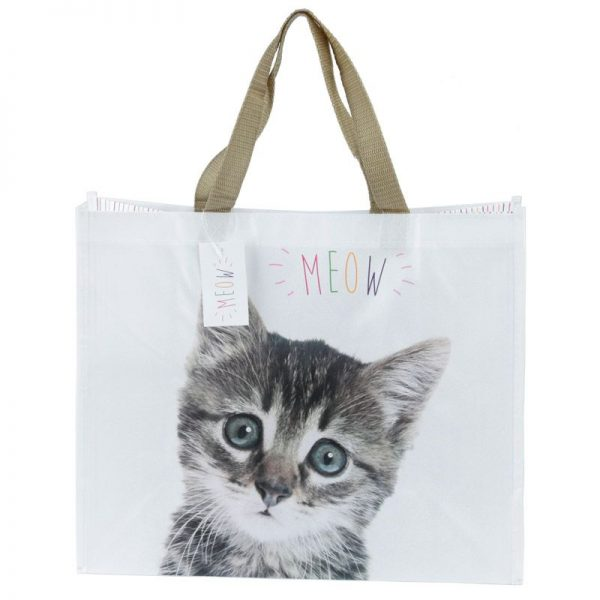 Nákupní taška s kotětem a nápisem MEOW 4 - pro milovníky koček
