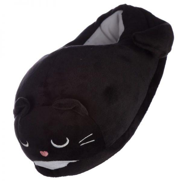 Černé kočičí pantofle Feline Fine - univerzální velikost 1 - pro milovníky koček