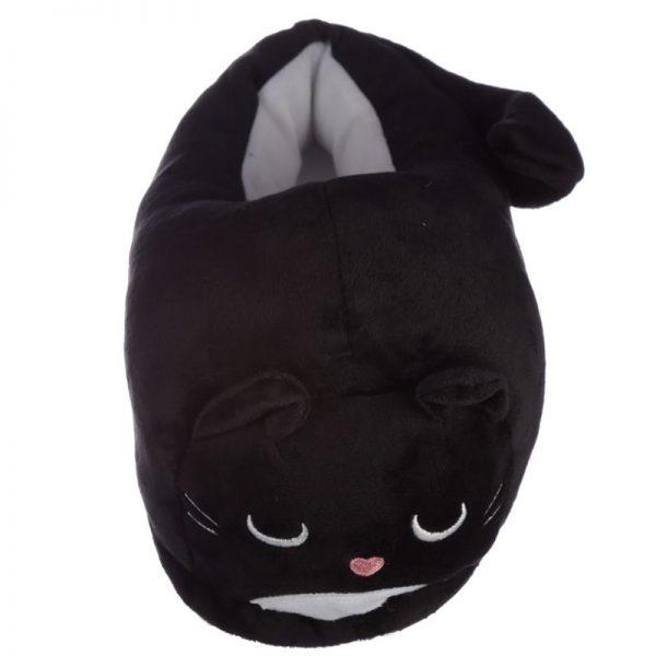 Černé kočičí pantofle Feline Fine - univerzální velikost 2 - pro milovníky koček